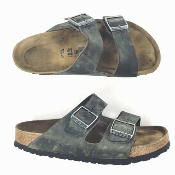 5105c8b1f910 Birkenstock Other - Birkenstock 265 Arizona 2 Buckle Gray Sandals